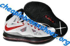 quality design 83ddd fba98 White Black Red Cheap Lebron James X Shoes 541100 003