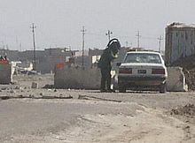 Icelandic Coast Guard EOD specialist defusing a Car bomb in Iraq. The Icelandic Coast Guard has primarily been a law enforcement organisation but is also in charge of national defences. It has also involved with the Republic of Iceland's contributions to expeditionary operations and conducted military exercises. For example Operation Enduring Freedom and Northern Challenge