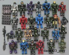 10 PCS Mega Bloks Halo Reach Figure Master Cheif Spartan Grunts Arbiter M54 $6.99