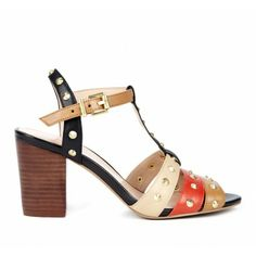 b915db2b9 toe t-strap with adjustable ankle strap. Features block and stud detail.