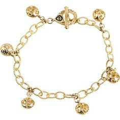 DeLatori: gold charm bracelet