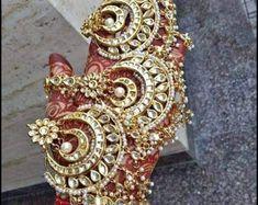 Sabyasachi Tikka Maang TikkaKundan Jewelry | Etsy Pakistani Jewelry, Indian Jewelry, Maang Tikka Kundan, Sabyasachi, Lehenga, Saree, Indian Bollywood, Bollywood Style, Bridal Ring Sets