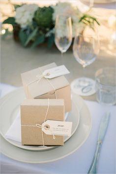 wedding favor packaging #napawedding #destinationwedding #weddingfavors http://www.weddingchicks.com/2014/01/02/gold-and-white-wedding/
