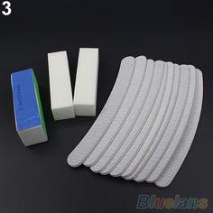 13 PCS Nail Art lixar arquivos Buffer do bloco Manicure Pedicure Gel UV Set 2ITS alishoppbrasil