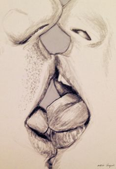 Realistic pencil drawing kissing - Google Search