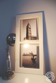 Janela antiga transformada em galeria de fotos. || Old window transformed into a photo gallery.   HappyEnding :)