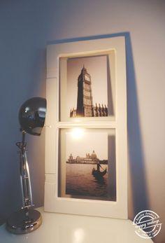 Janela antiga transformada em galeria de fotos. || Old window transformed into a photo gallery.   HappyEnding :)