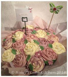 Cupcake bouquet  Cake by haleyscakekitchen