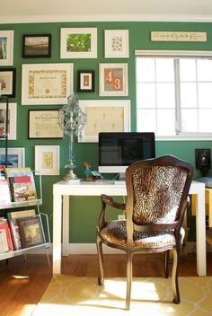 emerald office--design via Story & Space