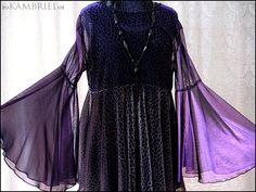 One of a Kind Shimmering Purple Black and Gold by kambriel on Etsy