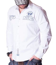 La Martina Asierto De Polo Shirt - White Color: white Lined collar and placket La Martina branded buttons La Martina logo embroidery on the left chest side. Polo Shirt White, Chef Jackets, Rain Jacket, Long Sleeve Shirts, Windbreaker, Mens Fashion, Shirt Dress, Online Outlet, Number 2