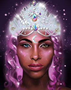 Painting by Kanoelani Chelsea Flower, Galaxy Art, Types Of Art, Flower Crown, Digital Art, Princess Zelda, Print Ideas, Artwork, Prints