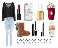 """""""Untitled #125"""" by aliclm ❤ liked on Polyvore featuring H&M, New Look, Essie, Harper & Blake, UGG, NARS Cosmetics, Marc Jacobs and Smith & Cult"""