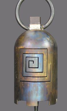 Bells - Twisted Horn Forge Welding Art Projects, Metal Art Projects, Metal Crafts, Propane Tank Art, Sound Sculpture, Temple Bells, Bell Art, Metal Garden Art, Scrap Metal Art