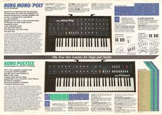 Korg's Vintage Models: PolySix & Mono/Poly Launched In 1981.