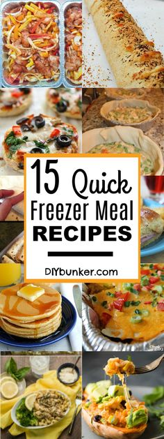 These 15 Freezer Meals Look So DELICIOUS! I love how convenient, easy and quick these recipes are! : )