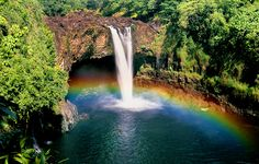 Rainbow Falls, Hawaii, where this happens all the time. | 15 Places You'd Probably Rather Be Right Now