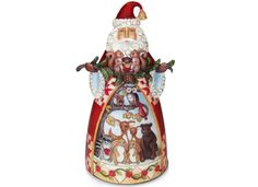 Jim Shore Santa with Woodland Animals Collectible Figurine - Holiday Lane - Macy's