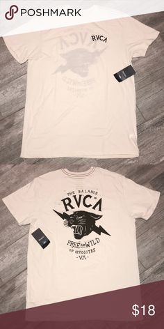 41172d1a RVCA - MENS SHORT SLEEVE TEE - XL **NEW WITH TAGS** VINTAGE DYED - THIN  STYLE TEE SIC LOGO ON BACK SIMPLE RVCA ON FRONT RVCA Shirts Tees - Short  Sleeve