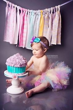 1st Birthday Tutu Set Newborn Baby Tutu by EmilyzEmbellishments. , via Etsy.