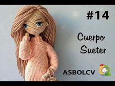 Irresistible Crochet a Doll Ideas. Radiant Crochet a Doll Ideas. Crochet Doll Pattern, Crochet Patterns Amigurumi, Crochet Dolls, Crochet Doll Clothes, Sewing Toys, Crochet Videos, Amigurumi Toys, Cute Dolls, Crochet Animals