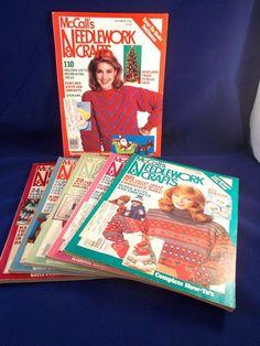 McCalls Needlework Crafts Magazines Quilting Knitting Cross Stitch 1980s lot #McCalls