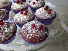 Puolukkamuffinssit Muffin, Breakfast, Food, Morning Coffee, Muffins, Meal, Essen, Hoods, Cupcakes