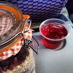 #Clippy straight sipping a cran-apple juice at a cruising altitude of 35,000 feet. #alliteration #kilnerjar #travel #cookiemix #pacificmerchants @Kilner_UK