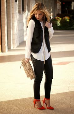Because Shanna Said So... fabulous faux fur vest and a great giveaway to Goodnight Macaroon
