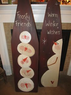 2012 - Old vintage wood ironing boards