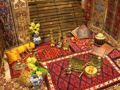 The Dollhouse Diaries: My Maharaja's Palace: March 2010 Arabian Pattern, Middle Eastern Decor, Arabian Tent, Indian Interior Design, Mughal Architecture, Indian Interiors, Hookah Lounge, Miniature Christmas, Arabian Nights