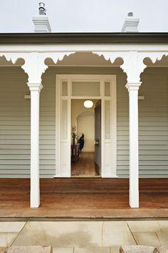 House exterior australian front doors Ideas for 2019 Dulux Exterior Paint Colours, House Paint Exterior, Exterior House Colors, Exterior Design, Ranch House Plans, Craftsman House Plans, Rustic Outdoor Spaces, Weatherboard House, Queenslander