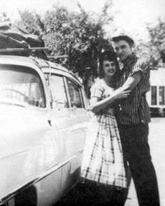 "Wanda Jackson & Elvis 1950s - ""Elvis never took himself seriously and just had fun on stage,"" Ms. Jackson said. ""He flirted with the girls, and his charm was his shyness. see more: online.wsj.com/..."