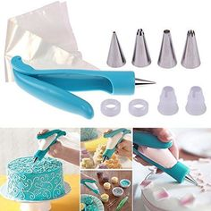 New Pastry Icing Piping Bag Nozzle Fondant Cake Cupcake Decorating Pen Set Tool -- Be sure to check out this awesome product.