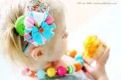 Party idea blog- candy themed bows andnjewelry