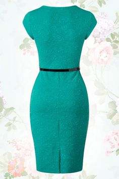 Elizabeth Sweetheart Wiggle Dress in Jade Green : Lindy Bop Elizabeth Jade Green Dress 100 40 15931 20150610 Purple Bodycon Dresses, Dressy Dresses, Modest Dresses, Simple Dresses, Dresses For Work, Lace Dresses, Dress Formal, Club Dresses, Diy Wedding Dress