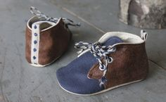 Baby Boy Shoes Soft Sole Shoes Toddler Boy Shoes Brown Faux Leather and Blue Shoes Baby Oxfords Modren Boy Shoes Infant Shoes by BitsyBlossom on Etsy https://www.etsy.com/listing/221140863/baby-boy-shoes-soft-sole-shoes-toddler