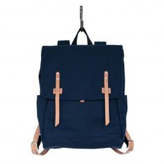 Farm Ruck Sack - Navy Canvas and Natural Horween� HS Leather
