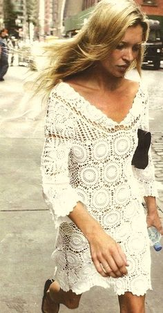Kate Moss - crochet dress