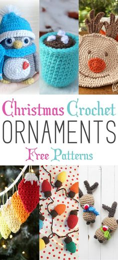 Christmas Crochet Ornaments with Free Patterns - The Cottage Market