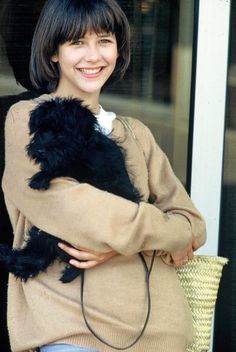 """Sophie Marceau portrays the role of ''Vick Beretton'' in the film """"La boum"""" ''Ready for Love or The Party'' ''Το πρώτο μου πάρτυ'' a French comedy film. Catherine Deneuve, Christophe Lambert, Sophie Marceau Photos, Jenifer Aniston, Figure Photography, French Beauty, French Actress, Cindy Crawford, Hollywood Actor"""