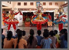 "Theru Koothu Stage Performance.  heru koothu is the most popular entertainment in rural areas of Tamil Nadu. It literally means ""Street Drama"". These are shows that resemble musical plays and are normally performed during village festivals, during the Tamil months of Panguni and Aadi."