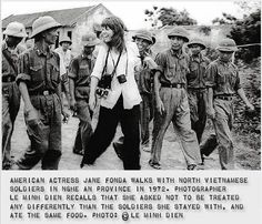 JANE FONDA IN VIETNAM WAR. 1972 Never forget what this lady did. She NEVER was a lady and never will be!!!