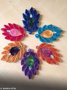 Feather design in colors !