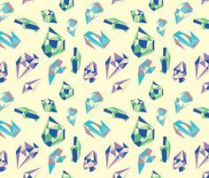 Ghost Gems fabric by nicole_ray on Spoonflower - custom fabric