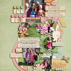 Egg Hunt page using Shabby Miss Jenn's Hippity Hoppity Kit!