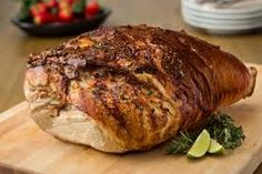 Fresh Pork Leg stuffed with Jalapeño and Chorizo Roast Recipes, Wine Recipes, Pork Leg Roast, Fun Cooking, Cooking Recipes, Venezuelan Food, Venezuelan Recipes, Chorizo Recipes, Sandwiches