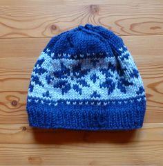 104 Mütze blau hellblau Norweger Glücksfrsoch