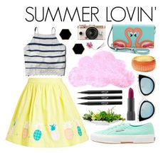 Summer Lovin': A Retro Ensemble by nina327 on Polyvore featuring Abercrombie & Fitch, Superga, Kate Spade, Amrita Singh, Janna Conner Designs, Fendi, Bite, Stila, Keen Footwear and Urban Outfitters