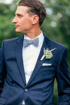 His Hugo Boss suit is on point! http://thedailywedding.com/2016/01/14/creative-country-club-wedding-ashley-rick/ http://thedailywedding.com/2016/01/14/creative-country-club-wedding-ashley-rick/